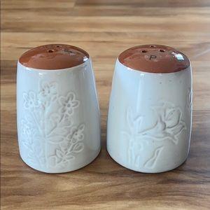 Pier 1 Glazed Terracotta Salt & Pepper Shaker